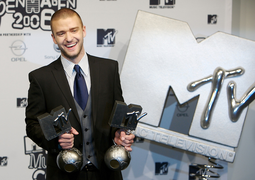 København, 20061102. MTV Europe Music Awards. Justin Timerlake. Red Carpet.