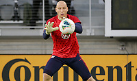 WASHINGTON, D.C. - OCTOBER 11: Brad Guzan #1 of the United States warming up during their Nations League match versus Cuba at Audi Field, on October 11, 2019 in Washington D.C.
