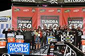NASCAR Camping World Truck Series<br /> Toyota Tundra 250<br /> Kansas Speedway, Kansas City, KS USA<br /> Friday 12 May 2017<br /> Kyle Busch, Cessna Toyota Tundra celebrates his win in Victory Lane<br /> World Copyright: Nigel Kinrade<br /> LAT Images<br /> ref: Digital Image 17KAN1nk07160