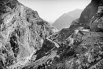 A general view of the Mahipar pass on the Kabul to Jalalabad road, 02 October 2013. This road is considered one of the most dangerous in the world, with accidents and fatalities occurring almost daily. (John D McHugh)