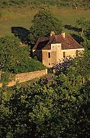 Europe/France/Aquitaine/24/Dordogne/Vallée de la Dordogne/Périgord Noir/Castelnaud-La-Chapelle: Détail d'une ferme