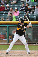 J.B. Shuck (3) of the Salt Lake Bees at bat against the Las Vegas 51s at Smith's Ballpark on May 8, 2014 in Salt Lake City, Utah.  (Stephen Smith/Four Seam Images)