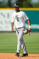 Bristol shortstop Hancer Vargas (38) during batting practice at Burlington Athletic Park in Burlington, NC, Thursday, July 12, 2007.