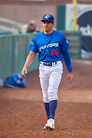 Zac Ching (25) of the Ogden Raptors before the game against the Grand Junction Rockies at Lindquist Field on July 23, 2019 in Ogden, Utah. The Raptors defeated the Rockies 11-4. (Stephen Smith/Four Seam Images)