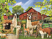 Lori, LANDSCAPES, LANDSCHAFTEN, PAISAJES, paintings+++++Six Llamas_4_27X20_Cmyk_12in_72,USLS299,#l#, EVERYDAY ,puzzle,puzzles