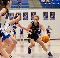 Claudia Bridges (1) of Fayetteville drives to the baskket at against Rogers King Arena, Rogers, AR January 8, 2021 / Special to NWA Democrat-Gazette/ David Beach