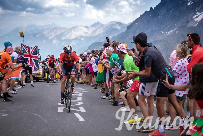 Damiano Caruso (ITA/Bahrain Merida) up the Col du Galibier (HC/2622m/23km@5.1%)<br /> <br /> Stage 18: Embrun to Valloire (208km)<br /> 106th Tour de France 2019 (2.UWT)<br /> <br /> ©kramon