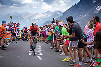 Damiano Caruso (ITA/Bahrain Merida) up the Col du Galibier (HC/2622m/23km@5.1%)<br /> <br /> Stage 18: Embrun to Valloire (208km)<br /> 106th Tour de France 2019 (2.UWT)<br /> <br /> ©kramon