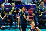 Team coach Davide Mazzanti of Italy during the match between Argentina and Italy on May 30, 2018 in Hong Kong, Hong Kong. Photo by Marcio Rodrigo Machado / Power Sport Images