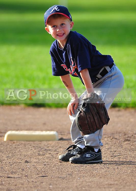 The Pleasanton National Little League Farm Braves play at the Pleasanton Sports Park Tuesday March 23, 2010. (Photo by Alan Greth)