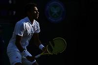 9th July 2021, Wimbledon, SW London, England; Wimbledon Tennis Championships, day 9;  Felix Auger Aliassime (Can)