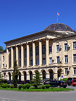Rathaus am Stalin-Platz in Gori, Innerkartlien, Georgien, Europa<br /> City hall at Stalin square in Gori, Shida Kartli,  Georgia, Europe