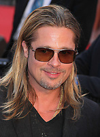 BRAD PITT 6-17-2013<br /> at the movie opening ''World War Z''<br /> in Times Square 6-17-2013<br /> Photo By John Barrett/PHOTOlink