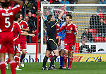 Aberdeen v St Johnstone... 23.07.11   SPL Week 1.Steve Conroy red cards Ryan Jack for a two footed lunge on Murray Davidson.Picture by Graeme Hart..Copyright Perthshire Picture Agency.Tel: 01738 623350  Mobile: 07990 594431