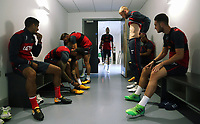 Pictured: Players wear their boots. Tuesday 11 July 2017<br />Re: Swansea City FC training at Fairwood training ground, UK