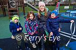 Tadgh McNiece, Ruby Mae Whelan, Amanda Belyea and Joe McNiece enjoying the Tralee town park playground on Sunday.
