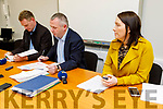 Kerry County Committee Chairman Tim Murphy, Treasurer Tom Keane and PRO Leona Twiss unveil the Kerry GAA  Financial Statements on Monday night.