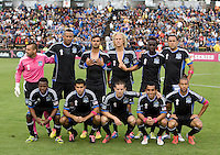 Earthquakes Starting XI pose together for group photo before the game against the Galaxy at Buck Shaw Stadium in Santa Clara, California on October 21st, 2012.  San Jose Earthquakes and Los Angeles Galaxy tied at 2-2.