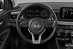 Car pictures of steering wheel view of a 2021 KIA Rio S 4 Door Sedan Steering Wheel