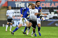 André Ayew of Swansea City during the Sky Bet Championship match between Swansea City and Cardiff City at the Liberty Stadium in Swansea, Wales, UK. Saturday 20 March 2021