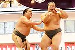Shokkiri, <br /> APRIL 17, 2017 - Sumo : Annual sumo tournament dedicated to the Yasukuni Shrine in Tokyo Japan. (Photo by Yohei Osada/AFLO SPORT)