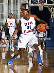Texas-Arlington Mavericks guard/forward LaMarcus Reed III (31) drives it down court  in the game between the UTA Mavericks and the Houston Baptist Huskies held at the University of Texas in Arlington's Texas Hall in Arlington, Texas. UTA defeats Houston Baptist 72 to 57