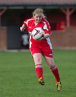 during the Thames Valley Counties Women's Football League (TVCWFL) match between Flackwell Heath Ladies and Laurel Park Vipers at Wilks Park, Blackwell Heath, England on 11 October 2015. Photo by Andy Rowland.