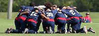 U-17 USMNT team huddle, Nike Friendlies, 2004.