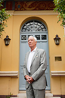 Han-Paul Bodifée, President of the Grasse Institute of Perfumery, poses for the photographer in front of the school at Villa Margherite, Grasse, France, 6 May 2013