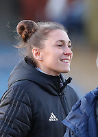 Head coach Audrey Demoustier of Woluwe pictured before  a female soccer game between FC Femina White Star Woluwe and KRC Genk on the third matchday of play off 2 in the 2020 - 2021 season of Belgian Scooore Womens Super League , Friday 23 th of April 2021  in Woluwe , Belgium . PHOTO SPORTPIX.BE | SPP | SEVIL OKTEM