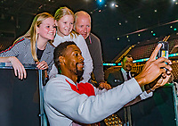 Rotterdam, The Netherlands, 16 Februari 2020, ABNAMRO World Tennis Tournament, Ahoy, Tournament winner Gaël Monfils (FRA) makes a selfie with fans<br /> Photo: www.tennisimages.com