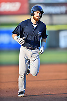 Mobile BayBears first baseman Jared Walsh (41) runs to third base during a game against the Tennessee Smokies at Smokies Stadium on June 2, 2018 in Kodak, Tennessee. The BayBears defeated the Smokies 1-0. (Tony Farlow/Four Seam Images)