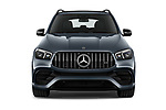 Car photography straight front view of a 2021 Mercedes Benz GLE AMG-63-S 5 Door SUV Front View