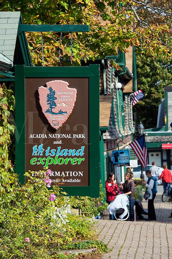 Information office, Acadia National Park, Bar Harbor, Maine, USA