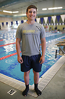 Bentonville West's Kaden Chase stands for a portrait, Thursday, April 15, 2021 at the Bentonville Community Center in Bentonville. Check out nwaonline.com/210415Daily/ for today's photo gallery. <br /> (NWA Democrat-Gazette/Charlie Kaijo)