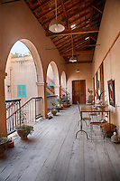 Senegal, Saint Louis.  Upstairs Landing, Jamm Boutique Hotel, a restored 19th-century house.