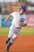 Kyler Burke (27) of the Daytona Cubs during a game vs. the Charlotte Stone Crabs June 3 2010 at Jackie Robinson Ballpark in Daytona Beach, Florida. Charlotte won the game against Jupiter by the score of 6-3.  Photo By Scott Jontes/Four Seam Images