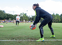 Orlando, FL - October 23, 2015:  The USWNT trained in preparation for their USWNT Victory Tour match against Brazil.