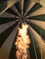 One of the highlights of this trip was a hot air balloon ride over the Serengeti. The flame helps the balloon rise.