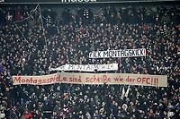19.02.2018, Commerzbank - Arena, Frankfurt, GER, 1.FBL, Eintracht Frankfurt vs RB Leipzig ,<br /> Banner and Plakate Eintracht Frankfurt Fans - Monday, Montagsspiel, Montagsspiele, DFL,  *** Local Caption *** © pixathlon
