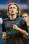 Luka Modric of Real Madrid warms up prior to the La Liga 2017-18 match between Real Madrid and Athletic Club Bilbao  at Estadio Santiago Bernabeu on April 18 2018 in Madrid, Spain. Photo by Diego Souto / Power Sport Images