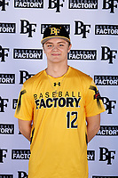 Chris Walsh (12) of Ukiah High School in Ukiah, California during the Baseball Factory All-America Pre-Season Tournament, powered by Under Armour, on January 12, 2018 at Sloan Park Complex in Mesa, Arizona.  (Mike Janes/Four Seam Images)