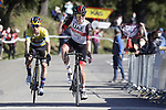 Tadej Pogacar (SLO) UAE Team Emirates wins Stage 3 ahead of race leader Primoz Roglic (SLO) Team Jumbo-Visma of the Itzulia Basque Country 2021, running 167.7km from Amurrio to Laudi/Ermualde, Spain. 7th April 2021.  <br /> Picture: Luis Angel Gomez/Photogomezsport | Cyclefile<br /> <br /> All photos usage must carry mandatory copyright credit (© Cyclefile | Luis Angel Gomez/Photogomezsport)