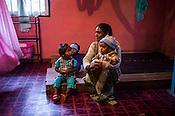 Caretakers spend time with the children at the day care centre in the Pedro Tea Estate in Nuwareliya in Central Sri Lanka.  Photo: Sanjit Das/Panos