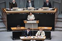 Plenarsitzung des Berliner Abgeordnetenhaus am Donnerstag den 14. Januar 2021.<br /> Im Bild: Die Wirtschaftsenatorin Ramona Pop (Buendnis 90/Die Gruenen) spricht in der Aktuellen Stunde zum Tagesordnungspunkt Coronahilfen fuer die Bevoelkerung und Wirtschaft.<br /> 14.1.2021, Berlin<br /> Copyright: Christian-Ditsch.de