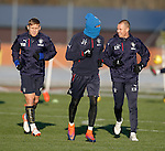 James Tavernier wrapped up against the cold