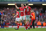 Jonathan Davies celebrates victory and the Grand Slam at the final whistle..RBS 6 Nations 2012.Wales v France.Millennium Stadium.17.03.12..CREDIT: STEVE POPE-SPORTINGWALES