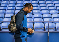 Bolton Wanderers' Nathan Delfouneso arrives at the stadium <br /> <br /> Photographer Andrew Kearns/CameraSport<br /> <br /> The EFL Sky Bet League Two - Bolton Wanderers v Oldham Athletic - Saturday 17th October 2020 - University of Bolton Stadium - Bolton<br /> <br /> World Copyright © 2020 CameraSport. All rights reserved. 43 Linden Ave. Countesthorpe. Leicester. England. LE8 5PG - Tel: +44 (0) 116 277 4147 - admin@camerasport.com - www.camerasport.com