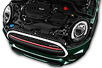 Car Stock 2016 MINI MINI JCW 3 Door Hatchback Engine  high angle detail view