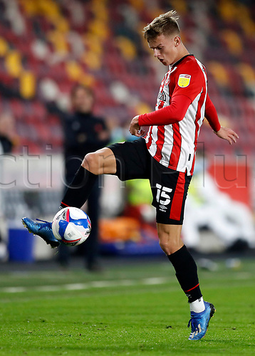 7th November 2020; Brentford Community Stadium, London, England; English Football League Championship Football, Brentford FC versus Middlesbrough; Marcus Forss of Brentford